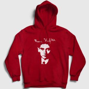 Franz Kafka Kapşonlu Sweatshirt kırmızı