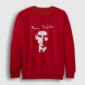 Franz Kafka Sweatshirt kırmızı