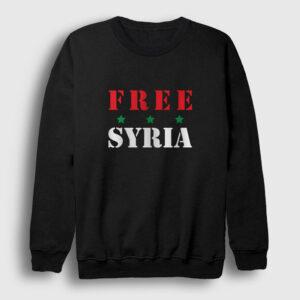 Free Syria Sweatshirt siyah