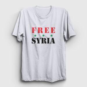 Free Syria Tişört beyaz