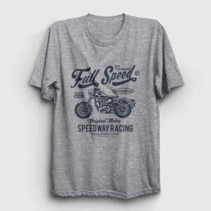 Full Speed Tişört gri kırçıllı