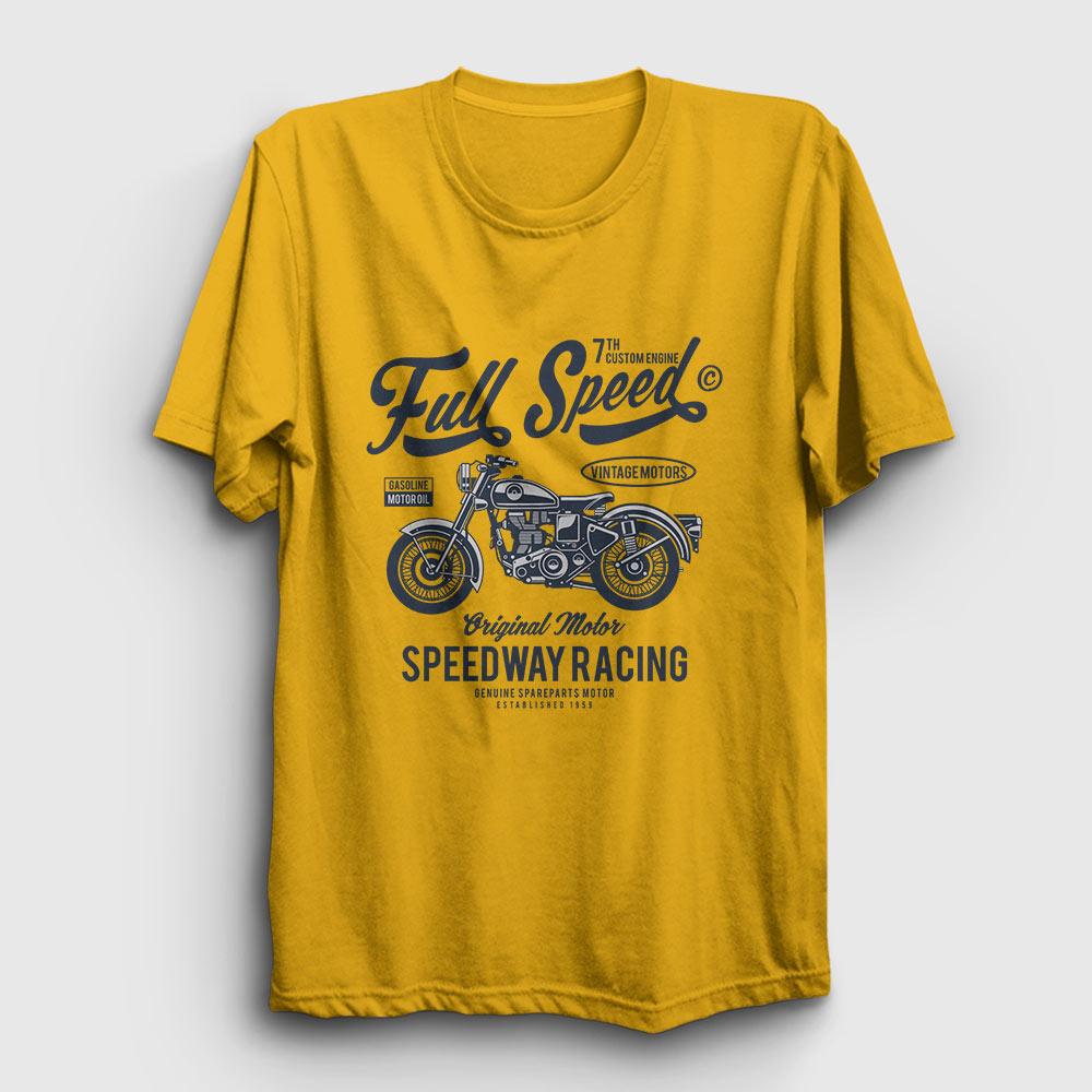 Full Speed Tişört sarı