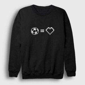 Futbol Aşkı Sweatshirt siyah
