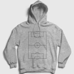 Futbol Sahası Kapşonlu Sweatshirt gri kırçıllı