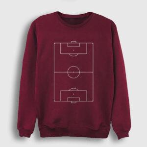 Futbol Sahası Sweatshirt bordo