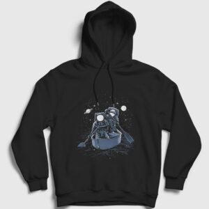 Galaxy Sailors Kapşonlu Sweatshirt siyah