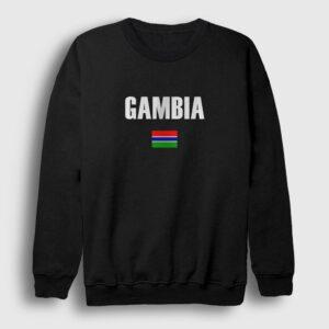 Gambia Bayrağı Sweatshirt siyah