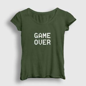 Game Over Kadın Tişört haki