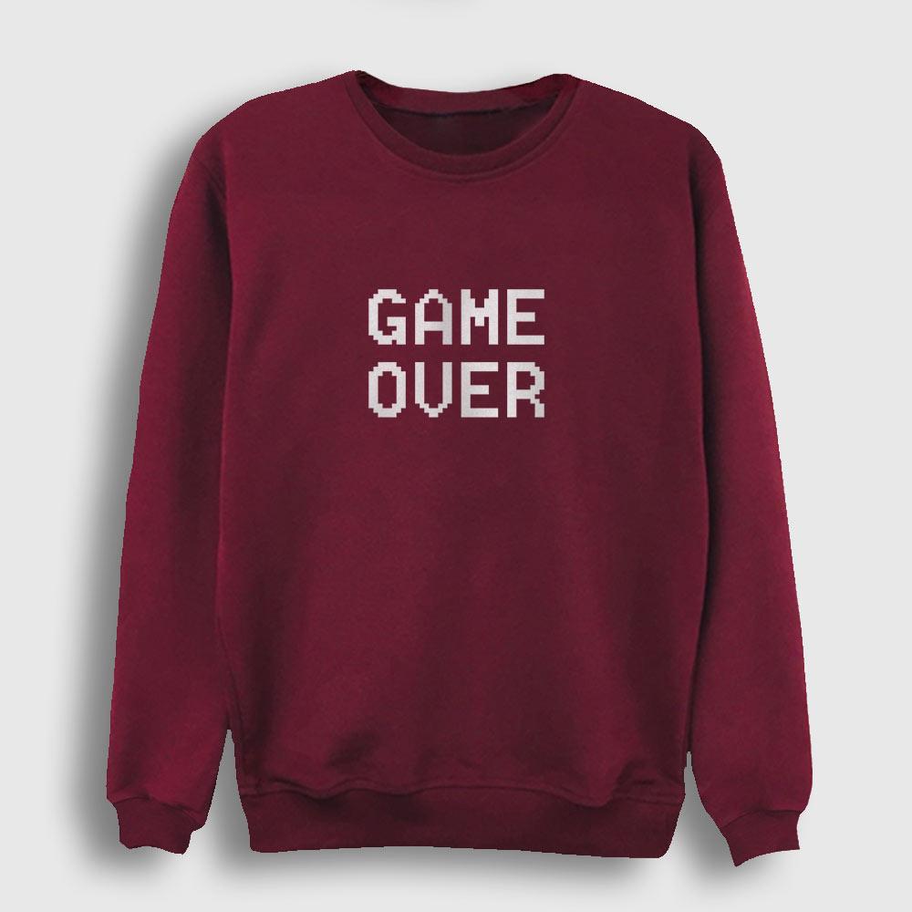 Game Over Sweatshirt bordo