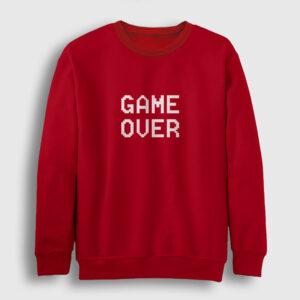 Game Over Sweatshirt kırmızı