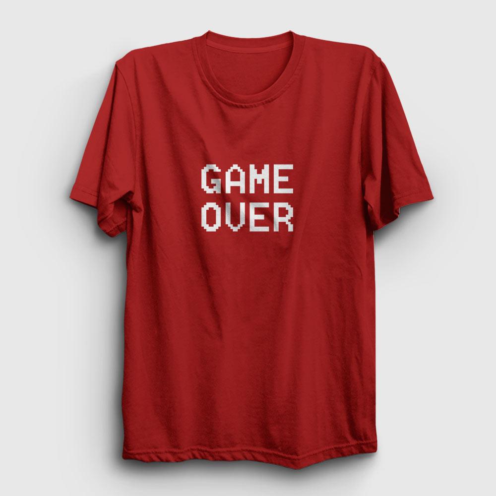 game over tişört kırmızı