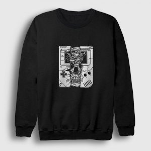 Gameboy Skull Sweatshirt siyah