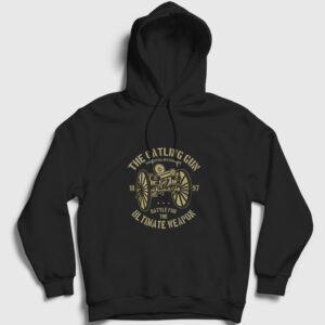 Gatling Gun Kapşonlu Sweatshirt siyah