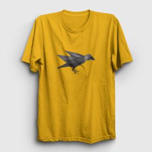 Geometrik Karga Tişört sarı