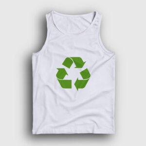 Geri Dönüşüm Logosu Atlet beyaz