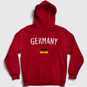 Germany Kapşonlu Sweatshirt kırmızı