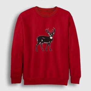 Geyik Sweatshirt kırmızı