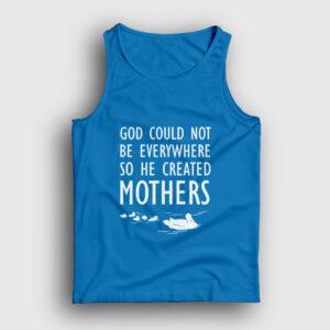 God Created Mothers Atlet açık mavi