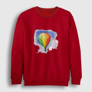Gökkuşağı Balon Sweatshirt kırmızı