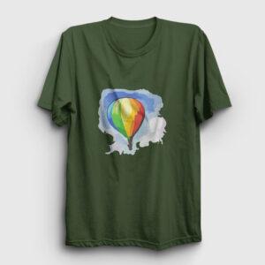 Gökkuşağı Balon Tişört haki