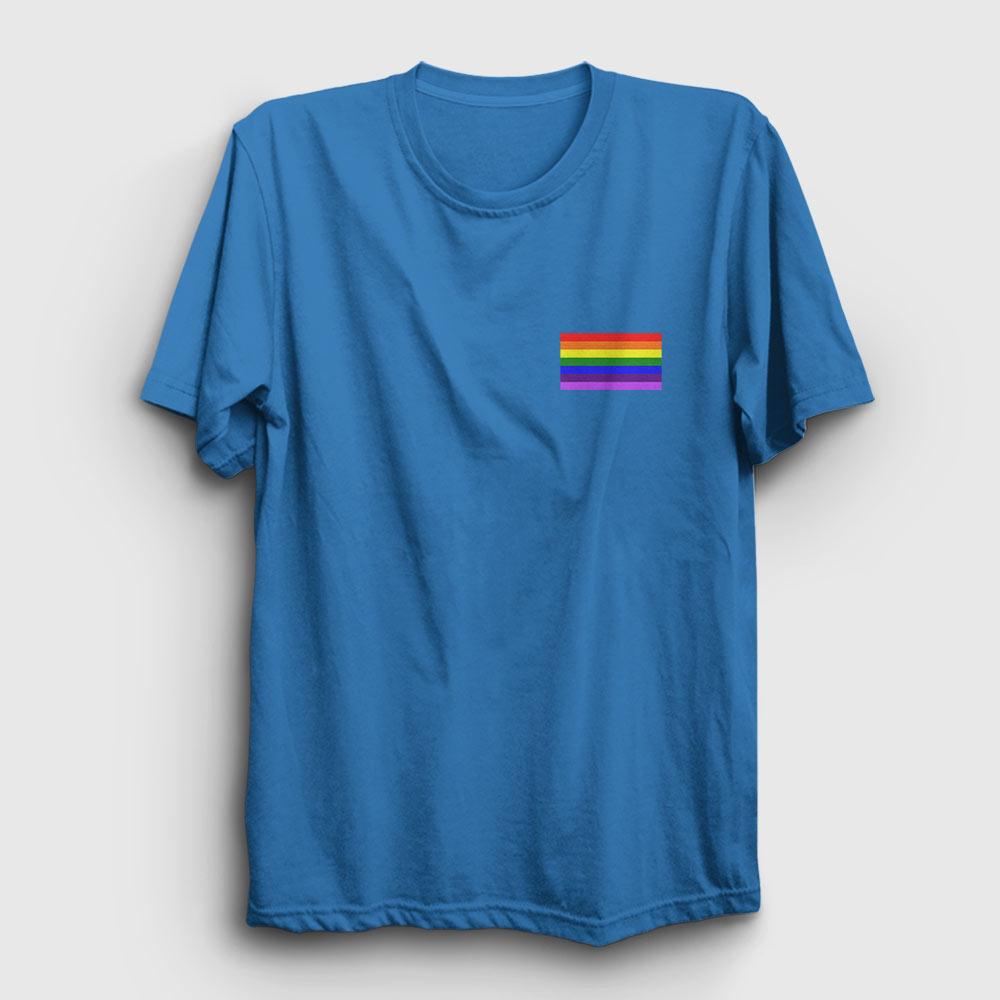 Gökkuşağı Logo Tişört açık mavi