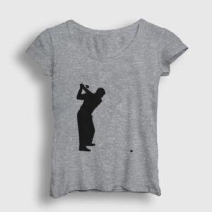 Golf Kadın Tişört gri kırçıllı