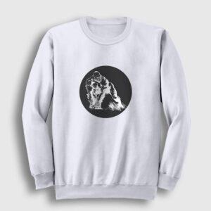 Goril Sweatshirt beyaz