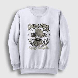 Gramofon Sweatshirt beyaz