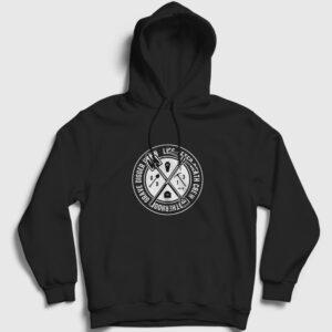 Grave Digger Kapşonlu Sweatshirt siyah