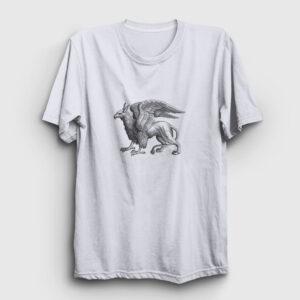 Griffon Tişört beyaz