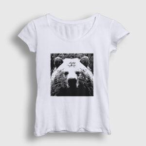 Grizzly Bear Kadın Tişört beyaz