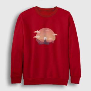 Gün Batımı Sweatshirt kırmızı