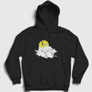 Güneş ve Bulut Kapşonlu Sweatshirt siyah