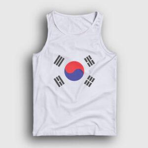 Güney Kore Atlet beyaz