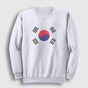 Güney Kore Sweatshirt beyaz