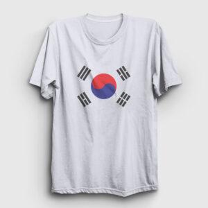 Güney Kore Tişört beyaz