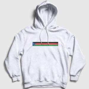 Güney Sudan Kapşonlu Sweatshirt beyaz