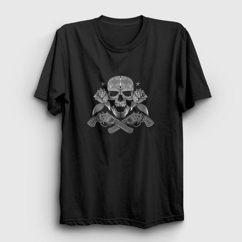 guns and roses tişört siyah