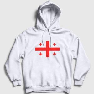 Gürcistan Kapşonlu Sweatshirt beyaz