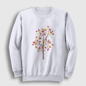 Güz Sweatshirt beyaz