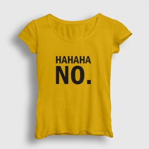 Hahaha No Kadın Tişört sarı