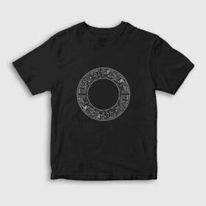 Halka Mitolojik Tanrılar Çocuk Tişört siyah