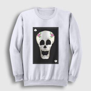 Halloween Sweatshirt beyaz