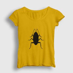 Hamamböceği Kadın Tişört sarı