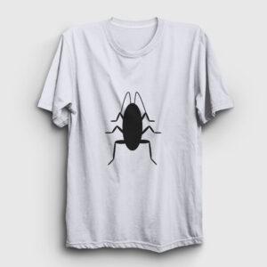 Hamamböceği Tişört beyaz