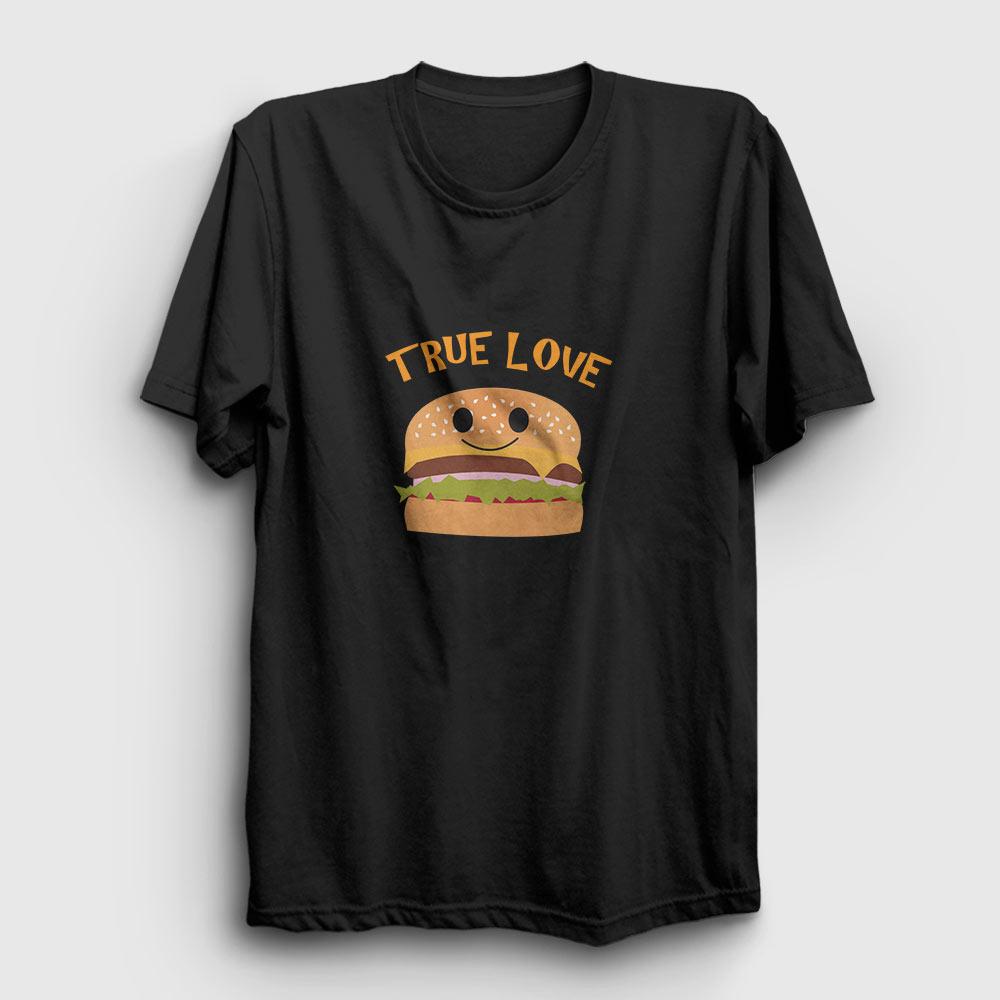 hamburger tişört gerçek aşk siyah