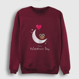 Happy Valentine's Day Sweatshirt bordo