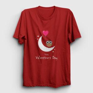 Happy Valentine's Day Tişört kırmızı