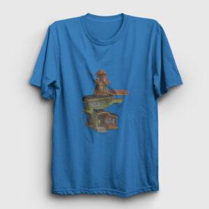 Hayaletli Ev Tişört açık mavi