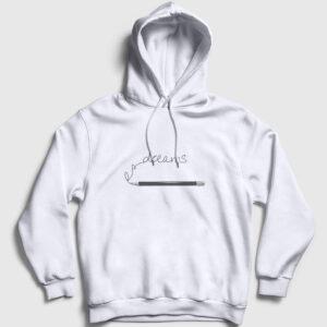 Hayaller Kapşonlu Sweatshirt beyaz